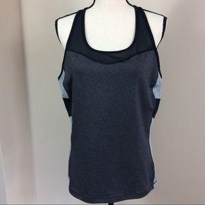 Fila Black And Gray Activewear Tank Top Sz XL